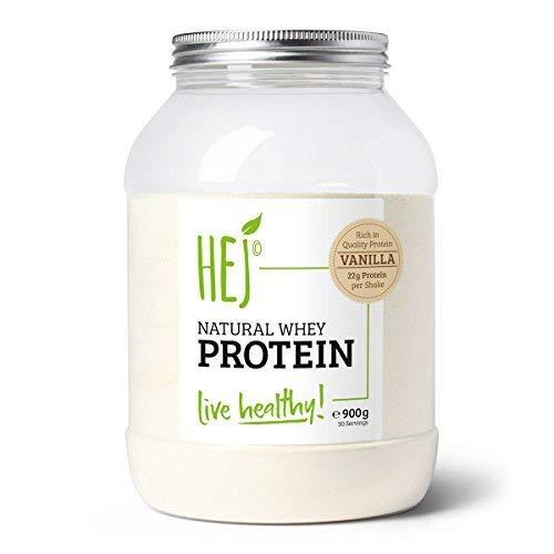 HEJ NATURAL WHEY PROTEIN | Vanilla - 900g | Premium Eiweiß | Protein zum Muskelaufbau