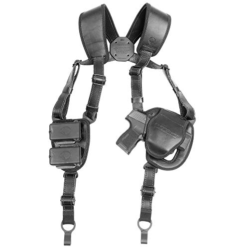 Alien Gear holsters ShapeShift Shoulder Holster (Black Leather) 1911-5 Inch (Right Handed)(.45 ACP/10mm Single Stack)