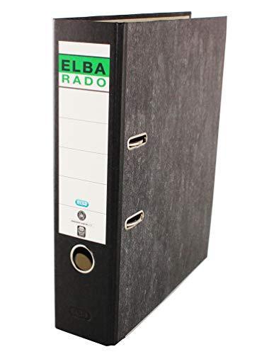 Elba Rado Clásico 100081018 - Archivador palanca forrado en papel jaspeado, A4
