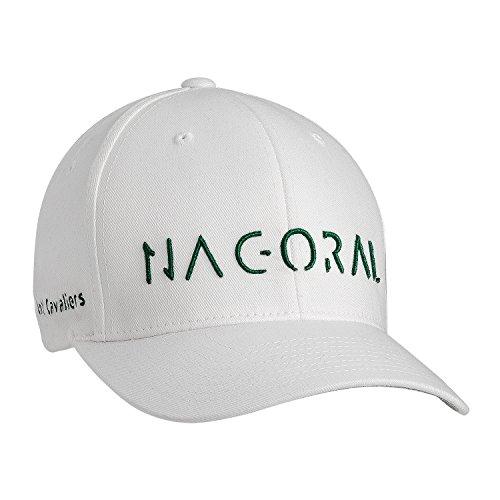 NAGORAL Golfcap für Herren in Polarweiß – hochwertige Bestickung – Flexband für eine perfekte Passform Designed for Golf Cavaliers (SM)
