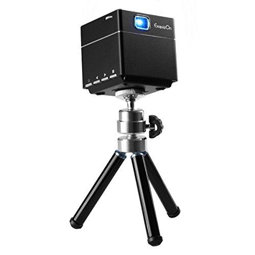 ExquizOn Vidéoprojecteur Portable, S6 Mini Projecteur WiFi DLP...