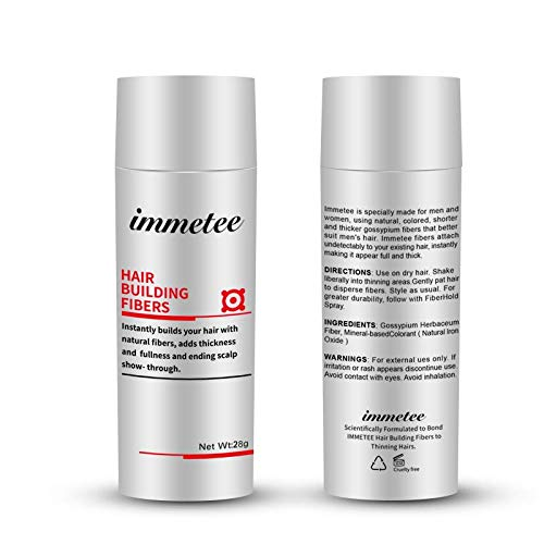 immetee Hair Building Fibers Regrowth Your Hair Instantly 28g (DARK BROWN)