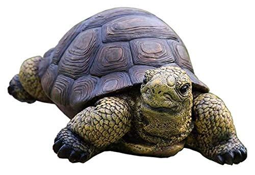 Crafts Estatua de tortuga, tortuga decorativa resina escultura estanque césped bosque jardín animales adornos decoración del hogar estatuas decoración