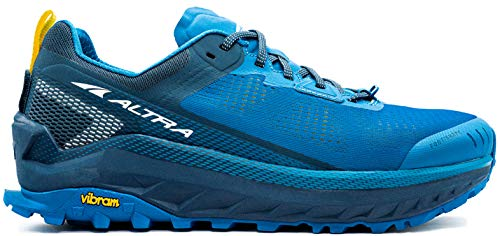 ALTRA Men's AL0A4VQM Olympus 4 Trail Running Shoe, Blue/Yellow - 8.5 M...