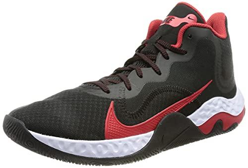 Nike Unisex Renew Elevate Basketball Shoe Basketballschuhe, Black/University RED-White, 44 EU