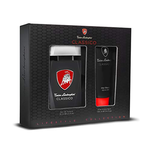 Tonino Lamborghini • Set regalo maschile CLASSICO: Eau de Toilette Spray 75 ml / 2,5 fl.oz. + Balsamo Dopobarba 100 ml / 3,4 fl.oz. • Collezione Lifestyle