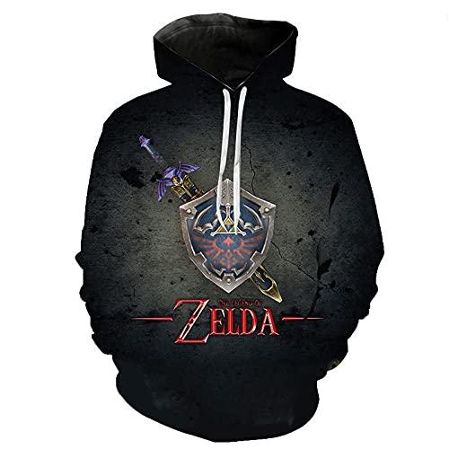 The Legend of Zelda Hoodies Men 3D Printed Hoodie Unisex Pullover Sweatshirt con Bolsillos Drawstring Hoodies Hombres-WY_120