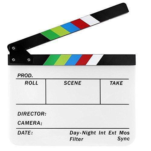 JOYOOO ardoise clap pour le film de film de télévision acrylique Clap TV Movie Film Cut/Action Clapper Conseil Slate 9.6 * 11.7\