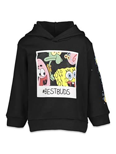 SpongeBob SquarePants Big Boys Fleece Pullover Hoodie Black 14-16