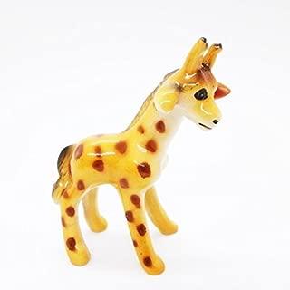 Giraffe Cute Ceramic Toy Kids Handmade Figurine Animals Miniature