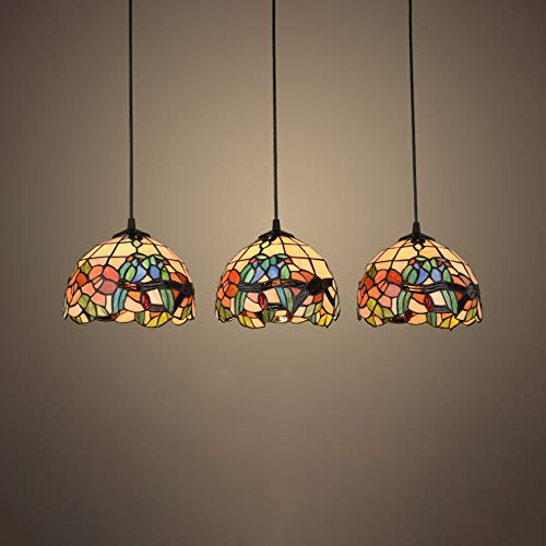 Pendant Light, XINDAR 3 Head Multi-Color Dome Pendant...