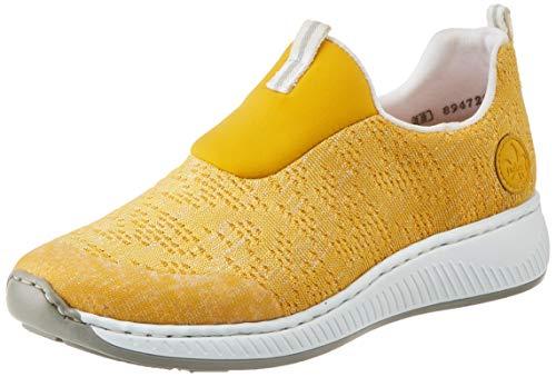 Rieker Damen Frühjahr/Sommer N5595 Sneaker, Gelb (Clear/Gelb-Silber/Gelb/Gelb/ 68 68), 41 EU