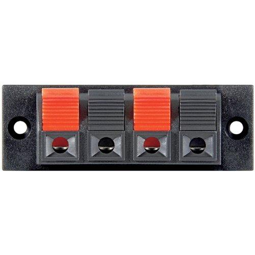 Unbekannt 10 Stück Lautsprecher-Terminal, 4 pol.Klemmleiste, rot/schwarz