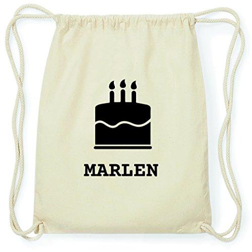 JOllify Turnbeutel - Happy Birthday - für Marlen - Kuchen