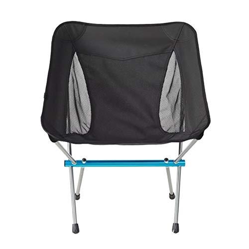 Silla Plegable portátil de campaña, con Marco de Aluminio es Adecuado for Acampar al Aire Libre y Senderismo Ideal para picnics Camping Playa jardín (Color : Blue)