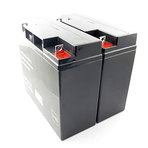 MTXtec Batteria Ricambio per ups APC Smart Gruppo di continuità XL 700/750/1000, Back Gruppo di continuità PRO 1400 (2 Einzelakkus)
