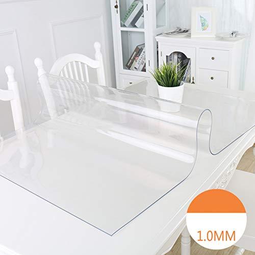 NgFTG 1mm di Spessore Trasparente PVC Tovaglia, Multi-Size Vinile Plastica Copritavolo Biancheria da Tavola Olio-Prova Lavabile Inodoro Frosted-a 90x140cm(35x55inch)