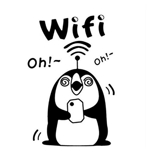 (5P)10.9Cm*16.5Cm WiFi Penguin Car-Styling Auto Sticker Vinylsticker