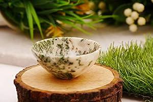 FASHIONZAADI Stone Hand Carved Bowl for Chakra Balancing Peace Gemstone Energy Home Table Decor Reiki Healing
