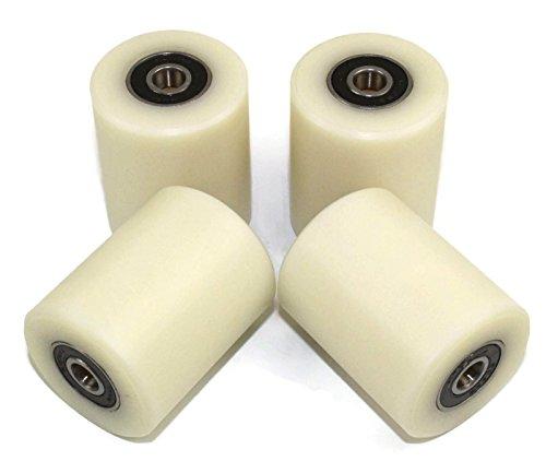 Smart Machines 4 Stück Nylon-Polyamid-Rollen, 40 mm Durchmesser, 50 mm breit, 8 mm Lager, präzise gefertigt in der EU (40-50-8)