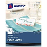 Avery Textured Place Cards, White, 1.43 x 3.75 Inches, Pack of 150 (16109)...