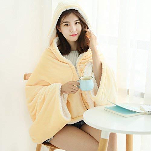 Willlly Lazy deken creatieve herfst en winter toevallige chique meisje Dorm kamer Anti koude artefact deken dubbele verdikking sjaal deken kantoor Nap Nap jas huis tapijt reizen outdoor deken 10