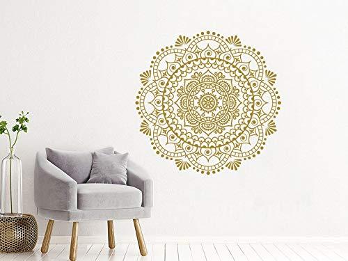 Decoración Mandala calcomanías de pared Yoga Studio Decoración Bohemia Mural de pared estilo Mandala decoración de dormitorio pegatina A5 43x42cm