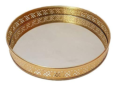 Gifting Best Wishes Round Metal Laser Cut Platter