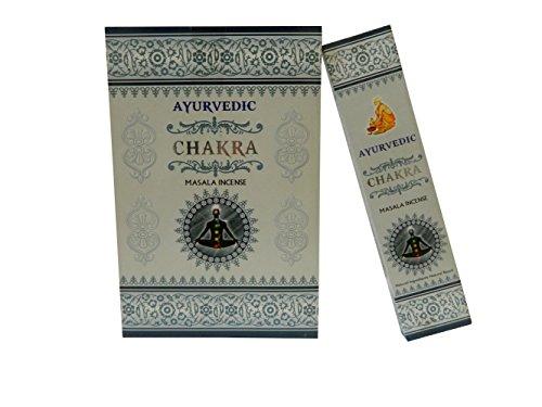 Incienso Masala Ayurvedic Chakra 12x 12= 144palos de incienso hecho a mano en India