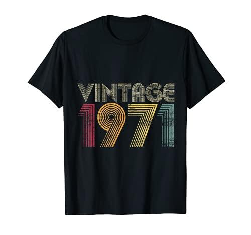 50 Compleanno Donna Uomo 50 Anni Vintage 1971 Maglietta