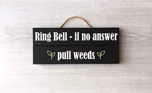 prz0vprz0v Ring Bell Pull Onkruid Ring Bell Teken Deurbel Teken Voordeur Teken Grappige Deur Teken Ring Trek Onkruid Teken Trek Onkruid Bell Teken
