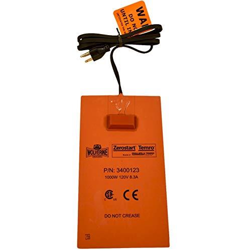 Zerostart 3400123 Silicone Pad Heater Engine Oil, Transmission Fluid, Reservoir and Hydraulic Fluid Heater, 6