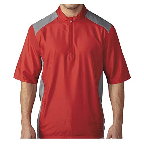 adidas Golf Mens Club Short Sleeve Wind Jacket (Power Red - 3XL)