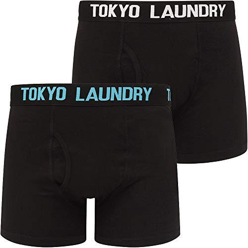Parkfields (2 Pack) Boxer Shorts Set in Bright White / Blue Moon – Tokyo Laundry - XXL