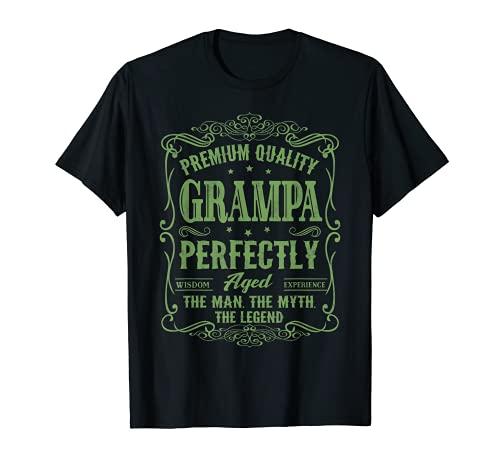 Familia 365 Vintage Abuelo Día del Padre Regalo para Hombres Camiseta