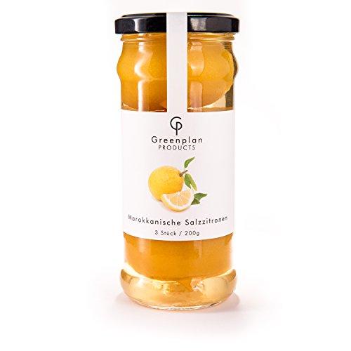 original marokkanische eingelegte Salzzitronen - ganze Salz-Zitronen 200g im Glas aus Marokko - Greenplan Products -