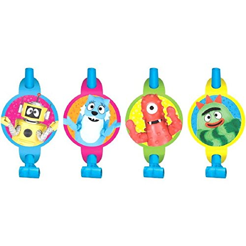 Amscan Hip and Hop Yo Gabba Blowouts Birthday Party Decorations, 5-1/4 x 3-1/4', Multi