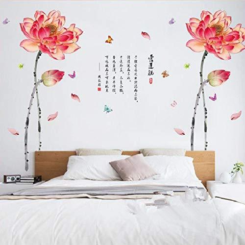 MWLSW Sticker Mural Lily Peinture Stickers muraux pour Chambre décoration de la Maison Fond Plan Avion Porte Murale DIY wallpaperr Se précipita