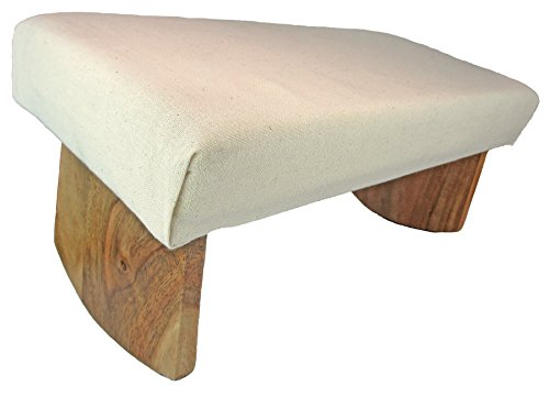Meditation Bench- Acacia Wood (Natural White)
