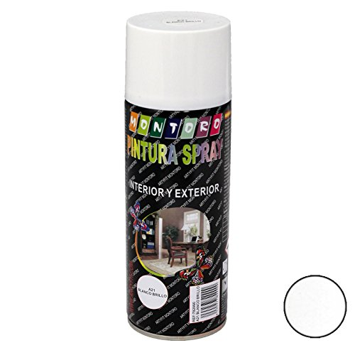 Montoro - Bote de Pintura en Spray Blanco Brillo A21 400 ml