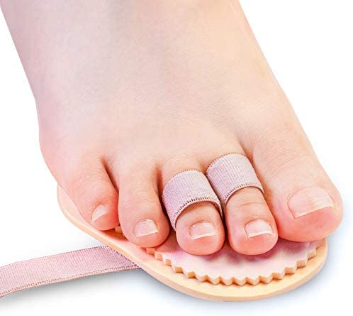 Welnove Toe Straightener Hammer Toes Corrector Pack of 2 (3 Holes) for Claw Toe Mallet Toe Contracted Toe and Cured Toe Hammer Toe Splint