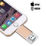 USB Flash Drive USB 3.0 OTG Jump Drive Pen Drive para iPhone/iPad/PC/Android, Almacenamiento Externo USB 3.0 Adaptador Expansión (256.00GB)