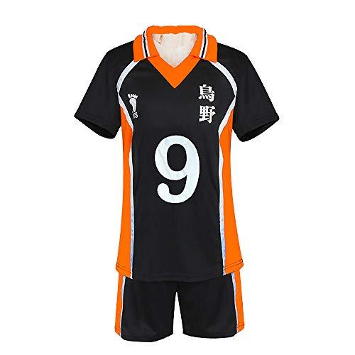 hengGuKeJiYo Haikyuu Sportswear Voleibol Uniforme Unisex Karasuno High School Hinata Shyouyou Tobio Kageyama Daichi Sawamura Disfraz de Cosplay