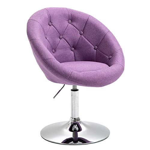 SVITA Havanna Sessel Lounge Clubsessel Drehsessel Stoff Cocktailsessel Retro Barhocker violett/lila