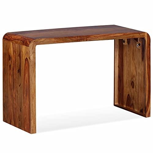 GOTOTOP - Aparador de madera maciza, escritorio de madera maciza de color vivo, aparador de estilo vintage, mesa de ordenador portátil, escritorio de libro para oficina en casa, 120 x 50 x 76 cm