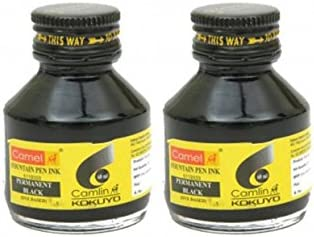 Pack of 2 - Detroit Mall Camlin Fountain Ink Based Pen Dye 60ml sold out Permanent