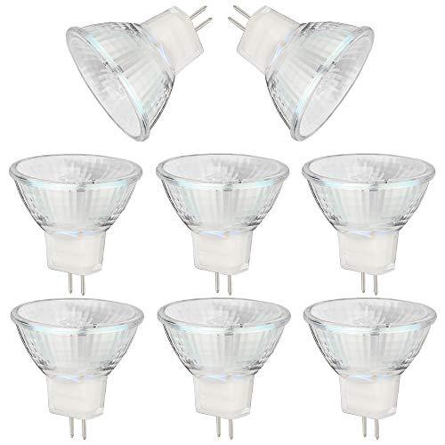 BOGAO MR11 Halogenlampen, 20W 12V MR11 GU4 Halogenlampen, warmweiß, 8er Pack