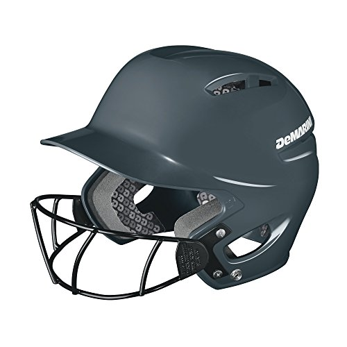 DeMarini Paradox Protege Pro Batting Helmet with Mask, Charcoal, Youth...