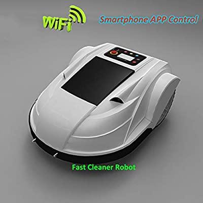 SHPEHP Fully Upgraded Robotic Lawn Mower with rain Sensor and Safety Shut-Off Device, WiFi Remote Control Anti-Theft Password Mower for Gardens up to 3000 Square Meters-White