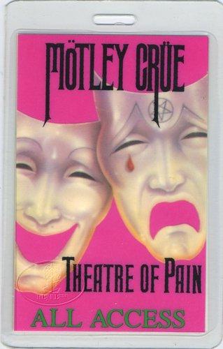 Motley Crue 1985 Theatre Pain Laminated Backstage Pass